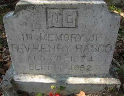 RASCO , HENRY, REV - Bienville County, Louisiana | HENRY, REV RASCO  - Louisiana Gravestone Photos