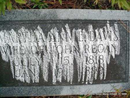 REGAN, MARTHA ANN - Bienville County, Louisiana   MARTHA ANN REGAN - Louisiana Gravestone Photos