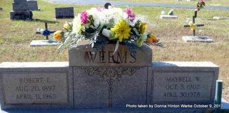 WEEMS, MAYBELL - Bienville County, Louisiana | MAYBELL WEEMS - Louisiana Gravestone Photos