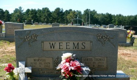 WEEMS, WAYMON MARVELL - Bienville County, Louisiana | WAYMON MARVELL WEEMS - Louisiana Gravestone Photos