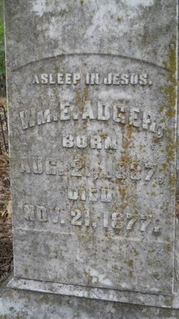 ADGER, WILLIAM E (CLOSE UP) - Bossier County, Louisiana   WILLIAM E (CLOSE UP) ADGER - Louisiana Gravestone Photos