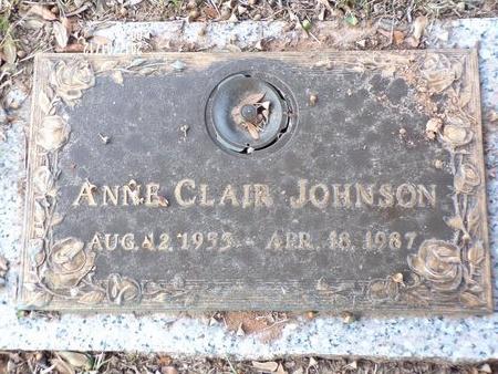 JOHNSON, ANNE CLAIR - Bossier County, Louisiana | ANNE CLAIR JOHNSON - Louisiana Gravestone Photos