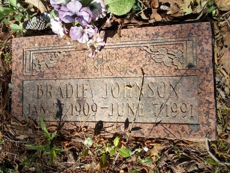 JOHNSON, BRADIE - Bossier County, Louisiana | BRADIE JOHNSON - Louisiana Gravestone Photos