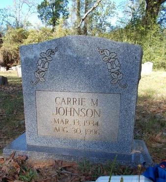 JOHNSON, CARRIE M - Bossier County, Louisiana | CARRIE M JOHNSON - Louisiana Gravestone Photos