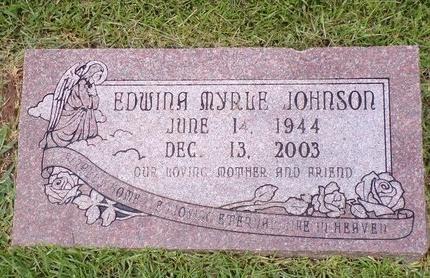 JOHNSON, EDWINA MYRLE - Bossier County, Louisiana | EDWINA MYRLE JOHNSON - Louisiana Gravestone Photos