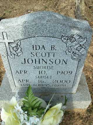 JOHNSON, IDA B - Bossier County, Louisiana | IDA B JOHNSON - Louisiana Gravestone Photos