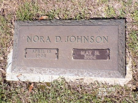 JOHNSON, NORA D - Bossier County, Louisiana | NORA D JOHNSON - Louisiana Gravestone Photos