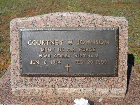 JOHNSON, COURTNEY W (VETERAN 3 WARS) - Bossier County, Louisiana | COURTNEY W (VETERAN 3 WARS) JOHNSON - Louisiana Gravestone Photos
