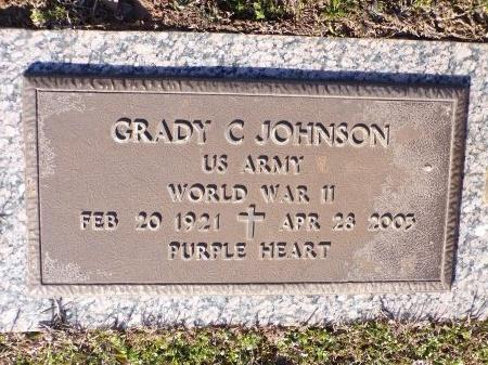 JOHNSON, GRADY C (VETERAN WWII) - Bossier County, Louisiana | GRADY C (VETERAN WWII) JOHNSON - Louisiana Gravestone Photos