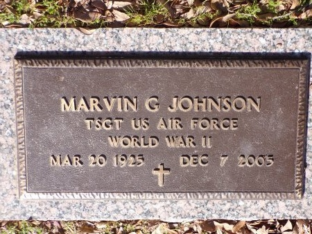 JOHNSON, MARVIN G (VETERAN WWII) - Bossier County, Louisiana | MARVIN G (VETERAN WWII) JOHNSON - Louisiana Gravestone Photos