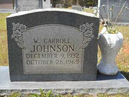 JOHNSON, W CARROLL - Bossier County, Louisiana   W CARROLL JOHNSON - Louisiana Gravestone Photos