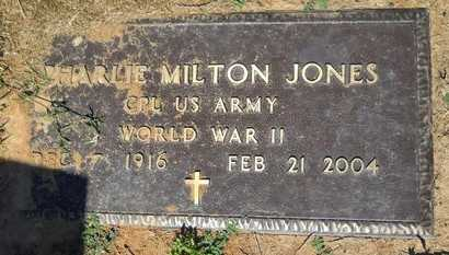 JONES, CHARLIE MILTON (VETERAN WWII) - Bossier County, Louisiana   CHARLIE MILTON (VETERAN WWII) JONES - Louisiana Gravestone Photos