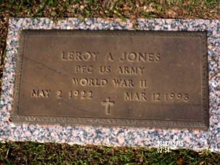 JONES  , LEROY A (VETERAN WWII) - Bossier County, Louisiana | LEROY A (VETERAN WWII) JONES   - Louisiana Gravestone Photos