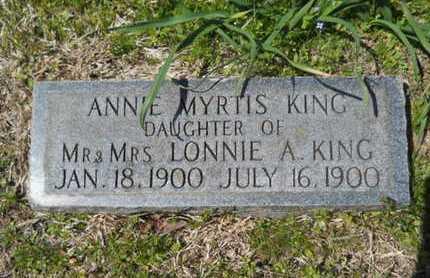 KING, ANNIE MYRTIS - Bossier County, Louisiana   ANNIE MYRTIS KING - Louisiana Gravestone Photos