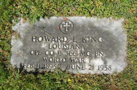 KING, HOWARD L (VETERAN WWI) - Bossier County, Louisiana   HOWARD L (VETERAN WWI) KING - Louisiana Gravestone Photos