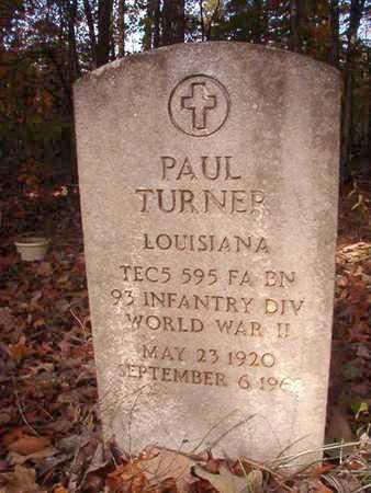 TURNER, PAUL (VETERAN WWII) - Bossier County, Louisiana | PAUL (VETERAN WWII) TURNER - Louisiana Gravestone Photos