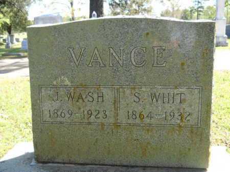 VANCE, J WASH - Bossier County, Louisiana   J WASH VANCE - Louisiana Gravestone Photos