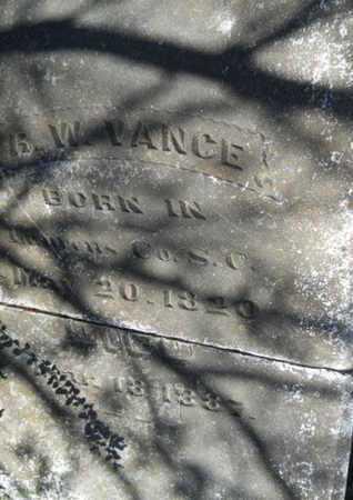 VANCE, R W (CLOSE UP) - Bossier County, Louisiana | R W (CLOSE UP) VANCE - Louisiana Gravestone Photos