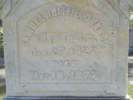 VANCE, SAMUEL WHITFIELD (CLOSE UP) - Bossier County, Louisiana | SAMUEL WHITFIELD (CLOSE UP) VANCE - Louisiana Gravestone Photos