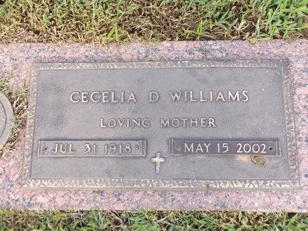 WILLIAMS, CECELIA D - Bossier County, Louisiana | CECELIA D WILLIAMS - Louisiana Gravestone Photos
