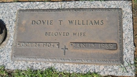 WILLIAMS, DOVIE T - Bossier County, Louisiana   DOVIE T WILLIAMS - Louisiana Gravestone Photos