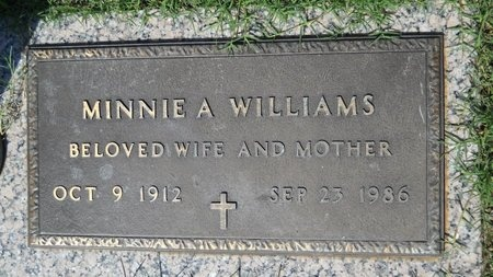 WILLIAMS, MINNIE A - Bossier County, Louisiana | MINNIE A WILLIAMS - Louisiana Gravestone Photos