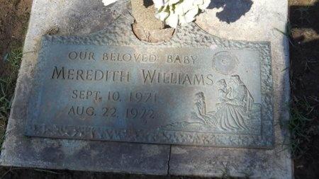 WILLIAMS, MEREDITH - Bossier County, Louisiana | MEREDITH WILLIAMS - Louisiana Gravestone Photos