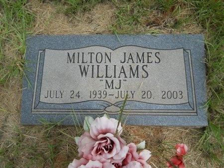 WILLIAMS, MILTON JAMES - Bossier County, Louisiana   MILTON JAMES WILLIAMS - Louisiana Gravestone Photos