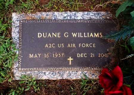 WILLIAMS, DUANE G (VETERAN) - Bossier County, Louisiana   DUANE G (VETERAN) WILLIAMS - Louisiana Gravestone Photos