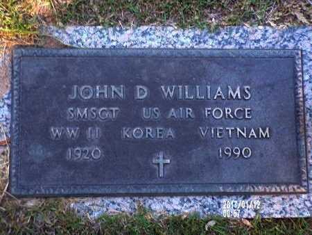 WILLIAMS, JOHN D (VETERAN 3 WARS) - Bossier County, Louisiana | JOHN D (VETERAN 3 WARS) WILLIAMS - Louisiana Gravestone Photos