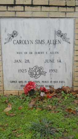 SIMS ALLEN, CAROLYN - Caddo County, Louisiana | CAROLYN SIMS ALLEN - Louisiana Gravestone Photos