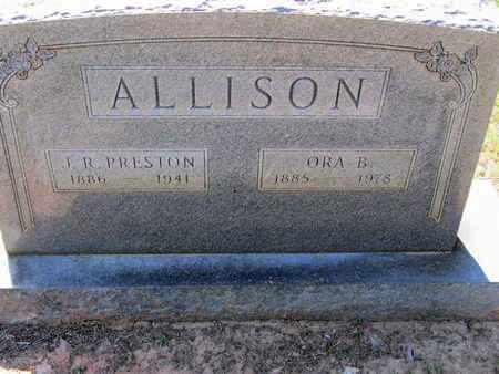 ALLISON, ORA - Caddo County, Louisiana | ORA ALLISON - Louisiana Gravestone Photos