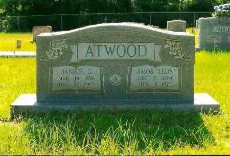 ATWOOD, AMOS LEON - Caddo County, Louisiana | AMOS LEON ATWOOD - Louisiana Gravestone Photos