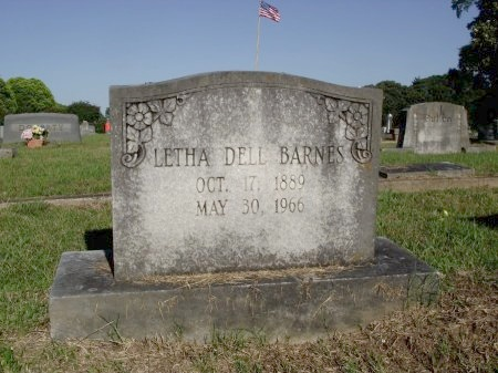 BARNES, LETHA DELL - Caddo County, Louisiana | LETHA DELL BARNES - Louisiana Gravestone Photos