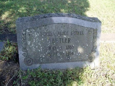 BUTLER, THERESA ALICE - Caddo County, Louisiana | THERESA ALICE BUTLER - Louisiana Gravestone Photos