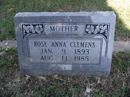 CLEMENS, ROSE ANNA - Caddo County, Louisiana   ROSE ANNA CLEMENS - Louisiana Gravestone Photos