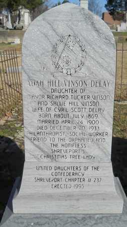 VINSON DELAY, ADAH HILL - Caddo County, Louisiana | ADAH HILL VINSON DELAY - Louisiana Gravestone Photos