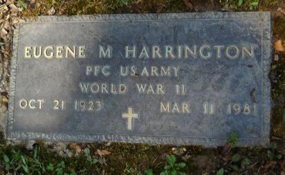 HARRINGTON, EUGENE M  (VETERAN WWII) - Caddo County, Louisiana | EUGENE M  (VETERAN WWII) HARRINGTON - Louisiana Gravestone Photos