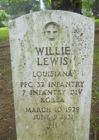 LEWIS, WILLIE (VETERAN KOR) - Caddo County, Louisiana | WILLIE (VETERAN KOR) LEWIS - Louisiana Gravestone Photos