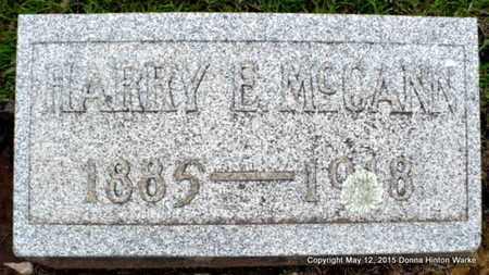 MCCANN, HARRY E - Caddo County, Louisiana | HARRY E MCCANN - Louisiana Gravestone Photos