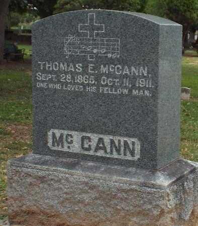 MCCANN, THOMAS E - Caddo County, Louisiana | THOMAS E MCCANN - Louisiana Gravestone Photos