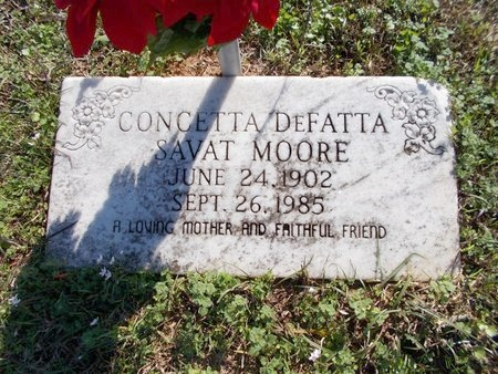MOORE, CONCETTA - Caddo County, Louisiana   CONCETTA MOORE - Louisiana Gravestone Photos