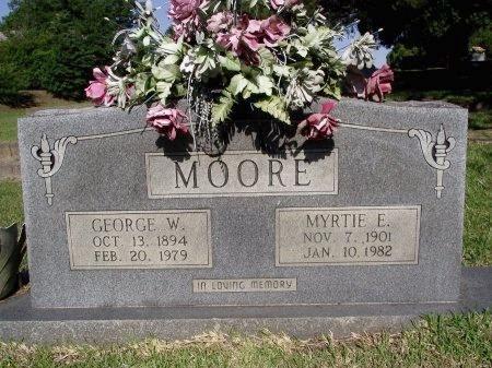 MOORE, MYRTIE E - Caddo County, Louisiana | MYRTIE E MOORE - Louisiana Gravestone Photos