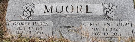 MOORE, GEORGE HADEN - Caddo County, Louisiana | GEORGE HADEN MOORE - Louisiana Gravestone Photos