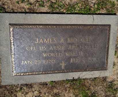 MOORE, JAMES A (VETERAN WWII) - Caddo County, Louisiana | JAMES A (VETERAN WWII) MOORE - Louisiana Gravestone Photos