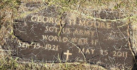 MOORE, GEORGE H   (VETERAN WWII) - Caddo County, Louisiana | GEORGE H   (VETERAN WWII) MOORE - Louisiana Gravestone Photos