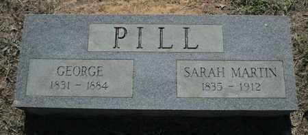 MARTIN PILL, SARAH - Caddo County, Louisiana | SARAH MARTIN PILL - Louisiana Gravestone Photos