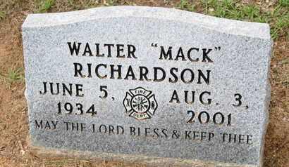 RICHARDSON, WALTER  MACK - Caddo County, Louisiana | WALTER  MACK RICHARDSON - Louisiana Gravestone Photos