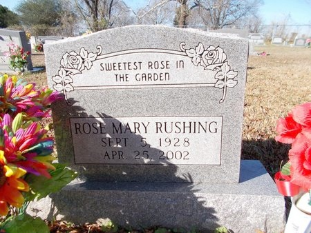 RUSHING, ROSE MARY - Caddo County, Louisiana | ROSE MARY RUSHING - Louisiana Gravestone Photos