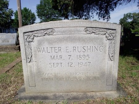 RUSHING, WALTER E., SR - Caddo County, Louisiana | WALTER E., SR RUSHING - Louisiana Gravestone Photos